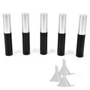 Coobbar 5pcs 10ml Black Empty Mascara Tube Eyelashes Cream Tube Vials Bottle DIY Container with 3pcs Plastic Funnel