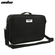 UNHO Portable Makeup Case with Makeup Brush Holder Cosmetic Organiser for Home & Travel