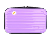 Genda 2Archer PU Leather Mini Cosmetic Makeup Case Toiletry Handbag Travel Suitcase with Wristlet
