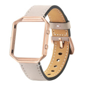 For Fitbit Blaze Smart Watch,Sunfei Luxury Genuine Leather Watch band Wrist strap + Metal Frame