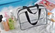 CYCTECH 2017 New Portable Clear Travel Cosmetic Bag Transparent Make Up Pouch