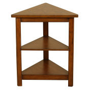 Walnut Triangle Accent Table