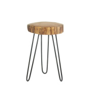 Fennco Styles Log Top Decorative Accent Table
