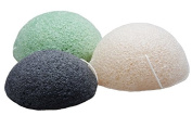 Organic Konjac Japanese Facial Cleansing Sponge Natural for Exfoliation - Plant Based Bath Sponge for Exfoliation and Cleansing