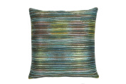 Edie At Home Decorative Throw Pillow Ombre Print Silk Cord Edge 18cm x 43cm , Square Waterfall Digtial Accent, 18cm x 43cm , Mineral