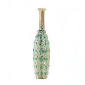 BSD National Supplies Golden Accent Peacock Long Neck Jewel Vase