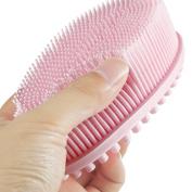 Bath Brush 100%Silicone Loofah Shower Massage Body Scrubber