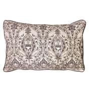 Balmont Collection Florentine Decorative Accent Pillow, 41cm x 60cm , Grey
