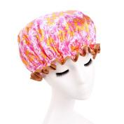 Women Shower Hat ,CYWULIN Bath Shower Hair Cover Adults Waterproof Bathing Cap for Lady