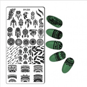 1 PC Rectangle Nail Art Stamping Plate Lace Flower Design Stamp Image Plate . Nail Stamping Template Nail Tools
