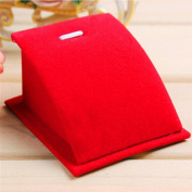 1 Pc Soft Velvet Jewellery Necklace Pendant Drop Chain Display Holder Standing Stand Colour Red