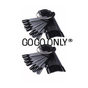 Pack of 2 - GOGOONLY 50 Black Tips Fan-shaped Nail Art Display Chart Acrylic False Tips Practise Tool - 100 Tips in Total - BH000853