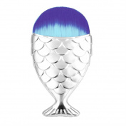 Snowfoller Beauty Cosmetic Tool Fish Scale Makeup Brush Fishtail Bottom Brush Powder Blush Makeup Cosmetic Brush