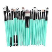 Cuekondy 20 pcs Makeup Brush Set tools Make-up Toiletry Kit Wool Make Up Brush Set
