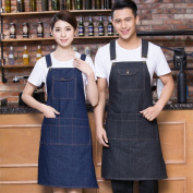 Cowboy Aprons with Barista Paintings Western Restaurant Baking Home Work Apron Restaurant Aprons,A