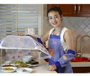 Cute Cooking Apron Woman Uniforms Cooks Sleeveless Anti-oil Anti-dirty Home Adult Kitchen,C