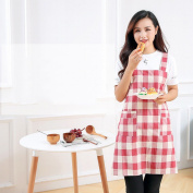 Apron Overalls Simple Gown Thick Cotton Apron Kitchen Restaurant Home Waiter Waterproof,A