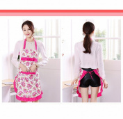 Modern Home Apron Adult Integrated Kitchen Sleeveless Apron Waterproof Anti-oil Apron Practical,A