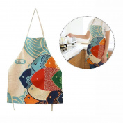 Cisixin Cartoon Pattern Aprons Cotton Canvas Women Apron Chef Kitchen Cooking Apron Bib