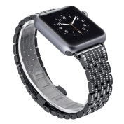 Teepao Replacement Bands for Apple Watch Series 2 and 1 Crystal Rhinestone Diamond Luxury Classic Strap for IWatch 42mm 38mm