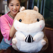 Cute Fat Hamster Doll Plush Toys Birthday present Plush Stuffed Animal Toys (Brown / holding melon seeds-58CM (22in))L