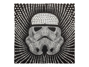 Star Wars Storm Trooper Dots Square 70cm x 70cm Euro Sham with Flange, Black/White