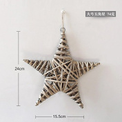 XMJR Wall decoration Creative bedroom restaurant walls manually hanging stereo wall decoration home living room wall hangings wall of rattan soft decorations, rattan - a big star