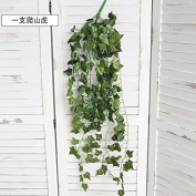 XMJR Wall decoration The storefront shops decorations vines greenery hanging ornaments wall Green coco furnishings emulation and fake plants and wall hangings, a climbing tiger