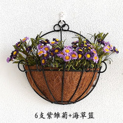 XMJR Wall decoration The restaurant is decorated with wall mount the adornment, wall hangings rooms living room wall decorations home country style walls, blue sea grass +6 support first daisies