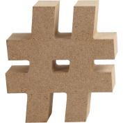 Symbol in MDF, #, H