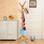 LXF Hat Coat Stand Tree twigs Solid Wood Traditional Floor-Standing Hat and Coat Stand with Umbrella Stand 2 Colours Optional