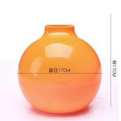 Tissue Box Desktop suction tray spherical roll paper tube tissue extraction sanitary carton 17*17cm Orange