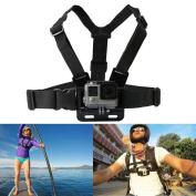 JJOnlineStore - Adjustable Chest Body Strap Harness Mount Holder for GoPro HD Hero 1 2 3 3+ 4 5 Action Video Camera Birthday Christmas Xmas Travel Outdoor Gift