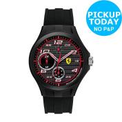 Scuderia Ferrari Lap Time Multi Func Black Dial Strap Watch -from Argos On