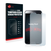 Savvies® Premium Tempered Glass Screen Protector For for Samsung Galaxy S5 / S5