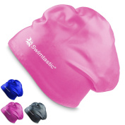 Swimtastic - Long Hair Swimming Cap - Specially Designed for Swimmers with Long, Thick, or Curly Hair