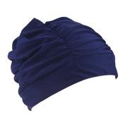 Kingko® Swimming Caps Long Hair Swim Cap Pleated Cloth Fabric Bathing Hats Lycra Beanie Hat for Adult Men Women