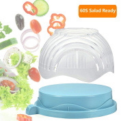 60 Seconds Salad Maker, Salad Cutter Bowl Fruit Vegetable Bowl Cutter-Fast Fresh Salad Slicer, Salad Chopper