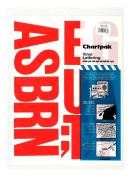 Chartpak Self-Adhesive Vinyl Capital Letters, 10cm High, Red, 58 per Pack