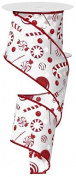 Candy Peppermint Christmas Ribbon