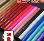 PETMALL 10PCS Vintage sealing Glue Gun Sealing Wax Wax sticks Wax seal supplies Assorted colours (13.8cmx1.1cmx1.1cm) Q561