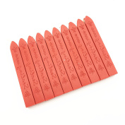 PETMALL 10PCS Vintage sealing Glue Gun Sealing Wax Wax sticks Wax seal supplies Assorted colours (Red) Q523