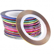10Pcs/Set Colours Striping Tape Line Diy Nail Art Tips Manicure Sticker Decoration Kit