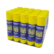 Fullmark all purpose glue sticks, washable, school, office, non-toxic, strong clear adhesive, 15ml / 15g, 20 count, jumbo bulk pack, suitable for kids