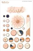 Blush Decorative Brads 25/Pkg-W/Rose Gold Rims