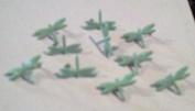 Dragonfly Brads - 10pc - Pastel Green