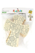 Playside Creations VBS and Camp Crafts, Wood Cross Prayer Power, Natural, 12 Count