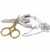 BIHRTC Stainless Steel Sharp Tip Sewing Snips Thread Cutter Safety Scissors with Sheath Chain for Embroidery, Sewing, Craft, Art Work & Everyday Use