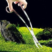 BinaryABC Aquarium Plant Wave Scissors Stainless Steel Polish Aquatic plants Shear Tools 24cm