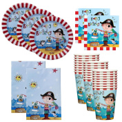 90pc Kids Birthday Party Supplies Set Cups Plates Napkins Table Cover Boys Girls